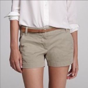 J Crew Broken-In Chino Classic Khaki Shorts Size 0